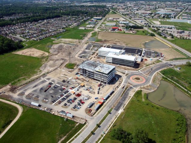 Site development and civil engineering of a corporate campus