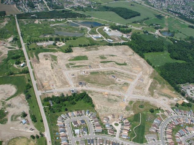 civil engineering/land development of a subdivision
