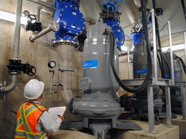 Civil engineering of a sanitary pumping station