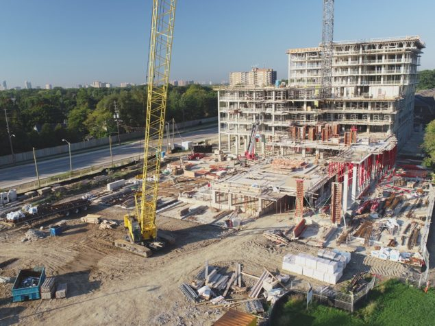 Construction of a high-rise residential development