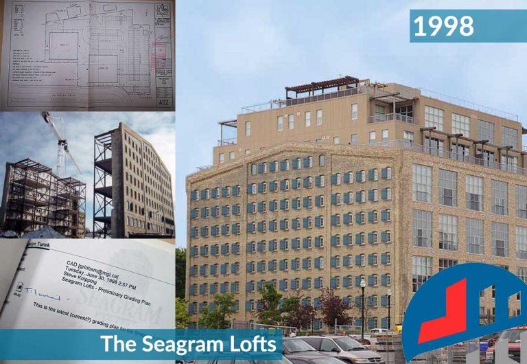 Civil engineering design of The Seagrams Lofts in Waterloo, Ontario