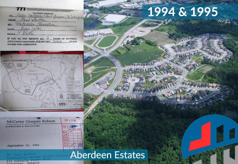 engineering design of a residential subdivision in Kitchener, Ontario