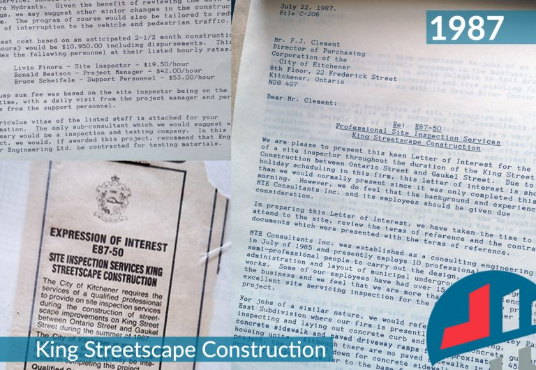 Documents from a streetscape improvement project