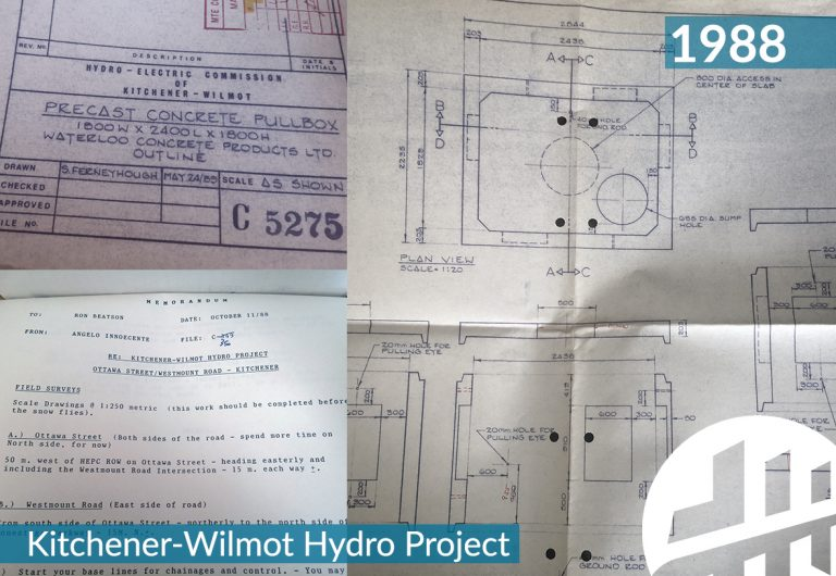 Engineering drawings of hydro ducts