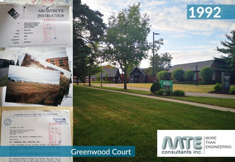 Civil engineering design of a long-term care home in Stratford, Ontario