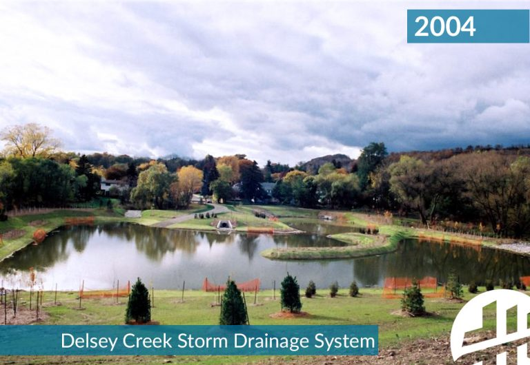 A storm drainage system