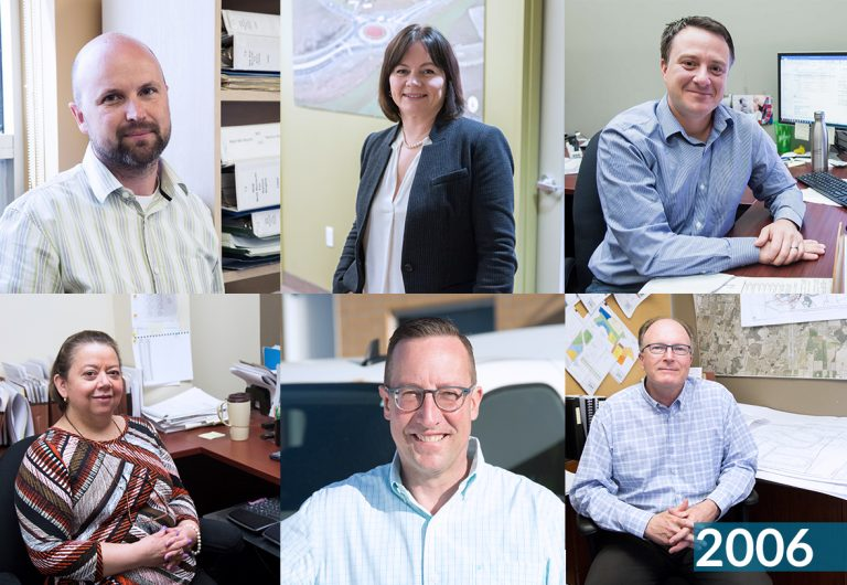A collage of six MTE employees