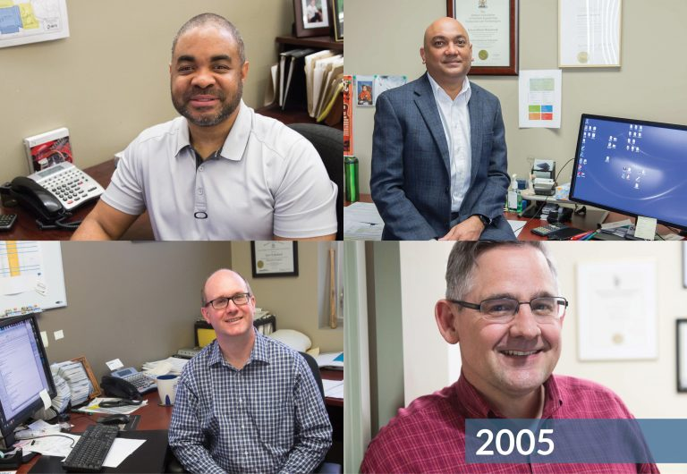 A collage of four MTE employees