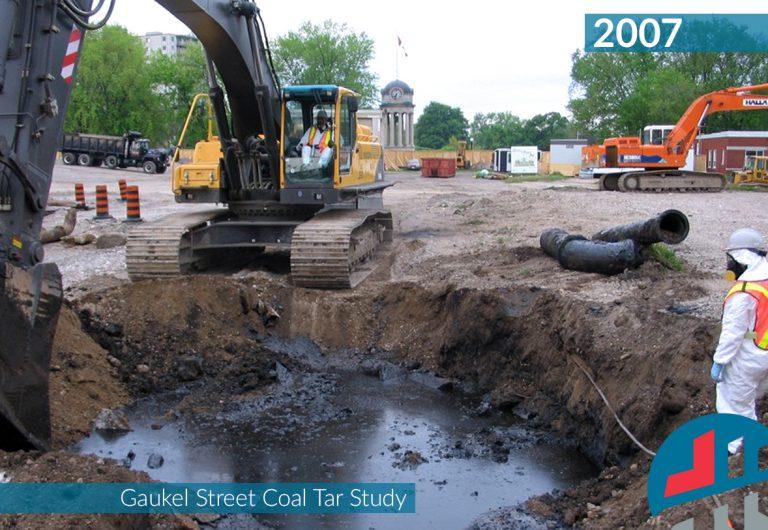 A coal tar remediation project