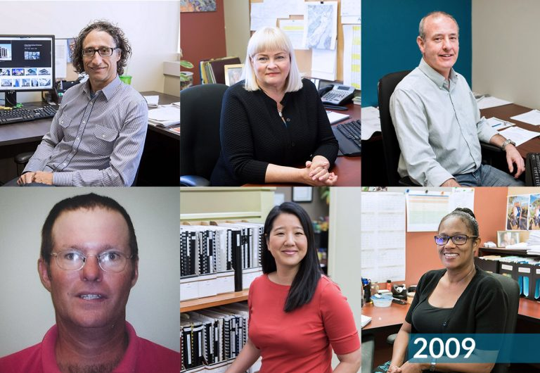 A collage of staff who joined MTE in 2009