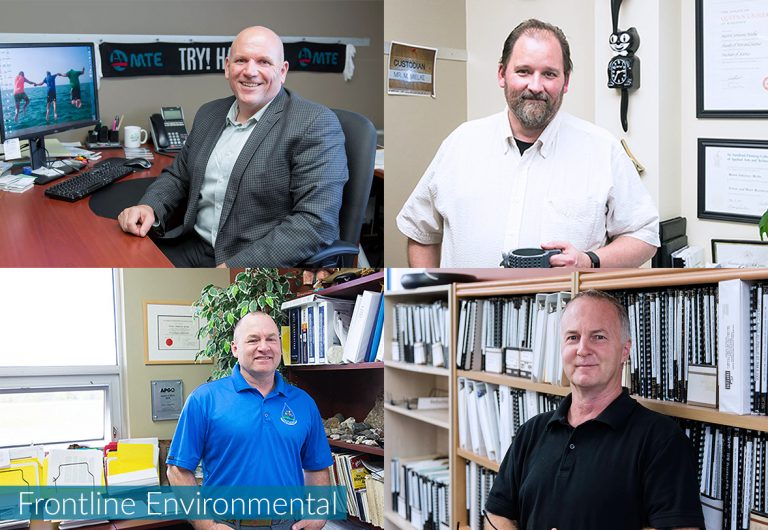 A collage of Frontline Environmental employees who joined MTE in 2006