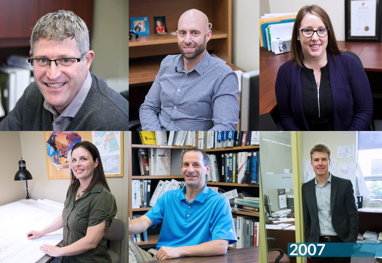 A collage of employees who joined MTE in 2006