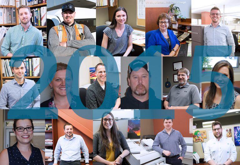 An image of 16 employees who joined MTE in 2015