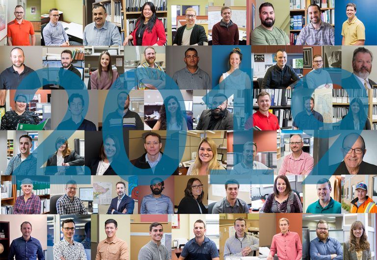 A collage of staff who joined MTE in 2019