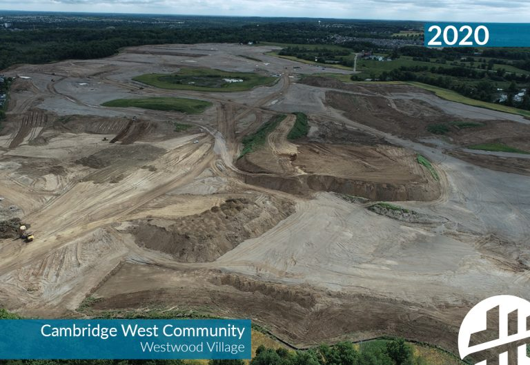 An aerial shot of a land development engineering project