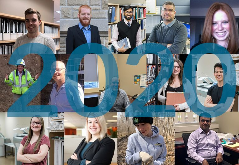 A collage of staff who joined MTE in 2020